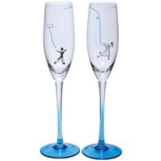 Santa Barbara Design Studio Wedding Collection Gl Take The Leap Champagne Flute Set