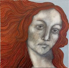 Every day is women's day! Painting 'Iconic woman Venus'  - Elke dag is het vrouwendag! Schilderij 'Iconische vrouw Venus' |post by Anneke| #art #dutchart #painting #kunst #schilderij #womensday #portrait