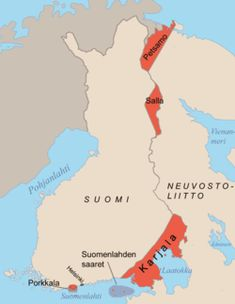 The areas ceded by Finland to the Soviet Union after the Continuation War. Porkkala was returned to Finland in The Moscow Armistice was signed between Finland on one side and the Soviet Union and United Kingdom on the other side on… Helsinki, History Of Finland, Historical Maps, World History, Ww2 History, Military History, World War Two, This Or That Questions, Russia