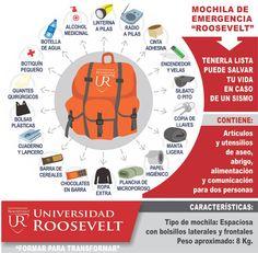 "Universidad Roosevelt | MOCHILA DE EMERGENCIA ""ROOSEVELT"""