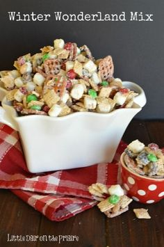 Winter Wonderland Chex Mix contains all of the most loved Christmas treats in one mix! Everything gets tossed together and coated in almond bark. I have to hide this mix from myself or I will eat the whole thing! Every year my family goes to the mountains to cut down a Christmas tree! It happens …