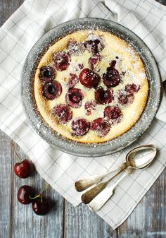 simple cherry clafouti