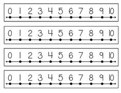 These number lines can be laminated and used during small group activities, placed on student's desks or in math notebooks.