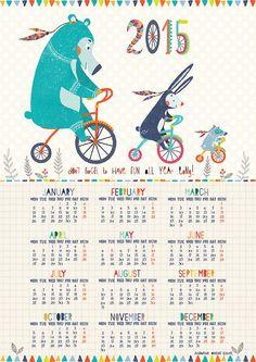 2015 Kid's Calendar by TheSecretCorner on Etsy