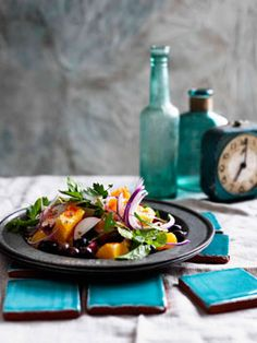 Moroccan Orange, Olive and Onion Salad