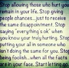 Sometimes you just have to let go...