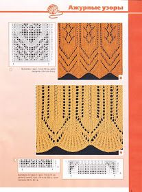 """Mobile LiveInternet Album """"Border and lace-rel . Knitting Short Rows, Lace Knitting Stitches, Knitting Machine Patterns, Lace Knitting Patterns, Cable Knitting, Knitting Charts, Lace Patterns, Stitch Patterns, Free Knitting"""