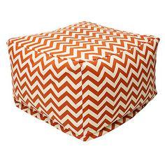 Zigzag Chevron Ottoman Orange