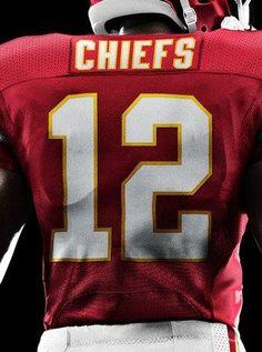 2b817e67537 New Nike Kansas City Chiefs Jersey     Sea of Red designated 12th man Kansas