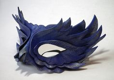 Purple Feather Leather mask by ~Shadows-Ink on deviantART