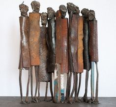 wood and metal sculpture - Google Search