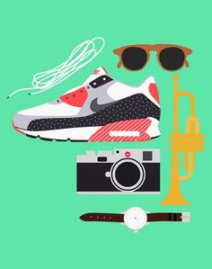 Michael Arnold #Illustration #art #Sneakers #Leica #airmax #watch