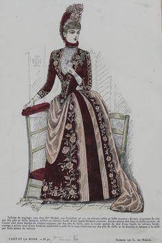 L'Art et la Mode 1886 1880s Fashion, Victorian Fashion, Vintage Fashion, Fashion Plates, Belle Epoque, Fashion Prints, Fashion Portraits, Costumes, Bustle