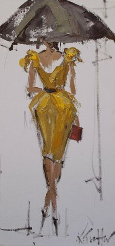 """FASHION ILLUSTRATION 4"" 8X16"" OIL ON CANVAS  SOLD limited edition prints and giclees available"