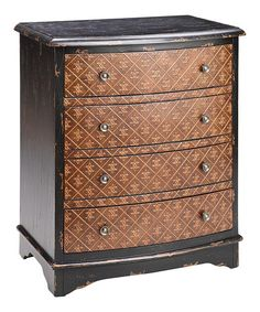Black & Antique Brown Fleur-de-Lis Accent Chest by JLA Home