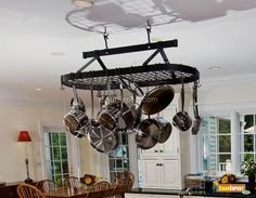 Love this pot rack i will def have this one day or something like that