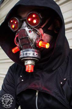 Vermilitron - Cyberpunk Dystopian light up mask by TwoHornsUnited on DeviantArt