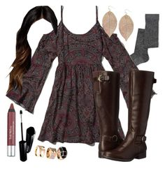 """""""Aria Montgomery inspired Thanksgiving outfit"""" by liarsstyle ❤ liked on Polyvore featuring ASOS, Abercrombie & Fitch, LifeStride, Humble Chic, Trish McEvoy, H&M, Shiseido, women's clothing, women's fashion and women"""