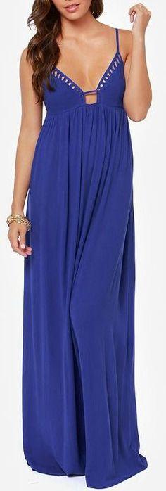 Lovely Dive Royal Blue Maxi Dress
