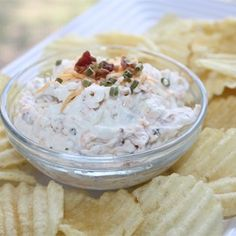 """Baked Potato Dip II I """". It's a bit of work to make, but well worth it. You'll never buy store-bought eggnog again!"""""""