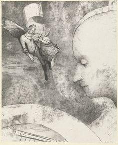 The Art from Siberia • djinn-gallery:   Odilon Redon, Furstein, 1894