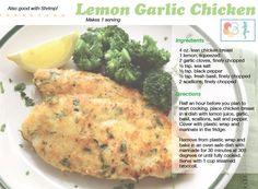 Lemon Garlic Chicken from Tone It Up!