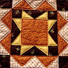 North Star Block - For The Underground Railroad Quilts, Meant for them to follow the north star.