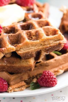 A stack of these delicious Banana Oatmeal Waffles would make the perfect breakfast star. Top with a drizzle of maple syrup and fresh berries to make this morning recipe extra-special.