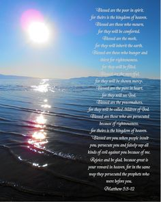 Beattitudes and the Great Salt Lake