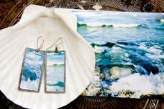 earrings made from a photo...cool