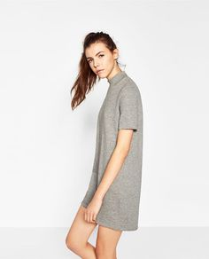Image 3 of HIGH NECK STRIPED DRESS from Zara