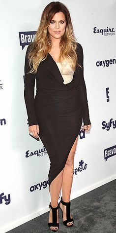 687b74d1d623 KHLOÉ KARDASHIAN Did Kim and Khloé plan to wear almost identical dresses to  the NBC upfronts