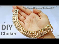 How To Make Designer Kundan Choker At Home||Latest Jewellery||Party ware Necklace..! - YouTube