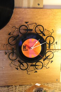 Vinyl Record Clock - available for $49.95 (404) 352-1971  shipping is free