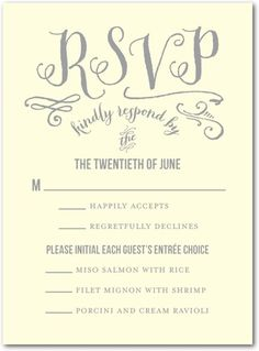 Polished And Cherished Wedding Response Card Response cards