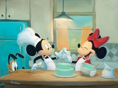 rob kaz mickey | Rob Kaz _ Decorating Fun _ 18x24 _ Disney Fine Art _ www.RobKazArt.com