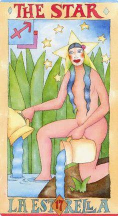 The Star - Napo Tarot Star Tarot, Online Tarot, Tarot Major Arcana, Innocent Girl, Tarot Card Meanings, Human Condition, Mountain Landscape, Tarot Decks, Tarot Cards