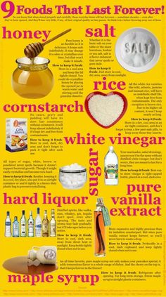 9 Foods That Last Forever: Infographic