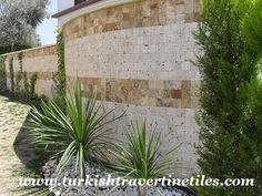 Yellow & Classic Travertine Tumbled Wall Tiles