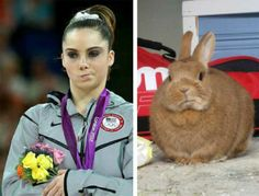 Not impressed McKayla and bunny.. the girl's pretty; the bunny is ADORABLE.