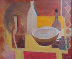 Still Life with Bottles by Jeremy Fraser