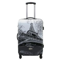 Mittelgroßer Koffer F23 Metropol Paris bei Koffermarkt: ✓Hartschalen-Koffer mit #Eiffelturm-Motiv ✓4 Rollen ✓Zahlenschloss ⇒Jetzt kaufen