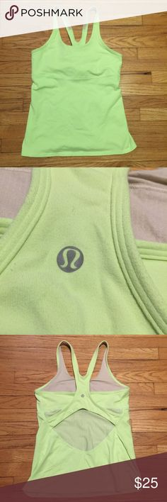 Lululemon lime green workout tank top - sz 10 Lululemon lime green workout tank top - sz 10. Armpit to armpit - 15.5 inches. Length - 24 inches. Excellent condition. lululemon athletica Tops Tank Tops