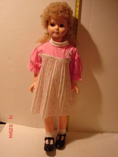 VINTAGE 31 INCH VINYL HARD PLASTIC EEGEE DOLL BLUE EYES OPEN CLOSE LASHES    Dolls & Bears, Dolls, By Brand, Company, Character   eBay!