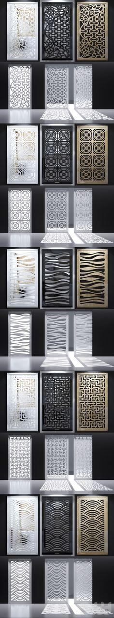 3d модели: Другие предметы интерьера - Набор декоративных панелей_09