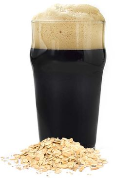 Oatmeal Stout Poured in Glass