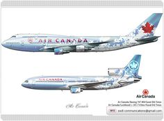 Air Canada / Boeing 747 400 / Good Old Times / Livery Concept  Air Canada / Lockheed L-1011 TriStar / Good Old Times / Livery Concept