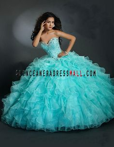 2014 Beautiful sweetheart neck beading beading ruffles puffy organza quinceanera 15 dresses ML-88094_[2014] Quinceanera Dresses_Quinceanera Dresses 2015,sweet 15 dresses 2015,Dama Dresses 2015,Little Girl Pageant Dresses 2015,Tutu dress 2015,New Style Quinceanera Dresses 2015 on Quinceaneradressmall.com