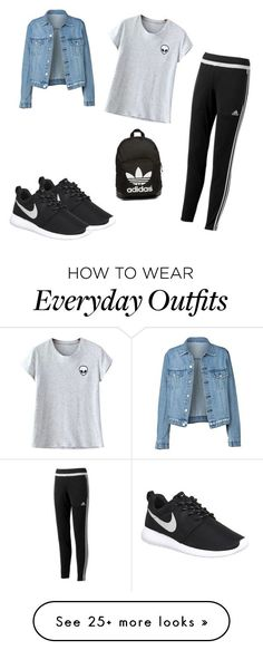 """My Everyday Outfit"" by briannapeters on Polyvore featuring NIKE, adidas, Chicnova Fashion and adidas Originals"
