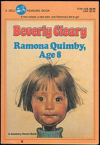 """Ramona Quimby, Age 8"". Beverly Cleary books are the best!"